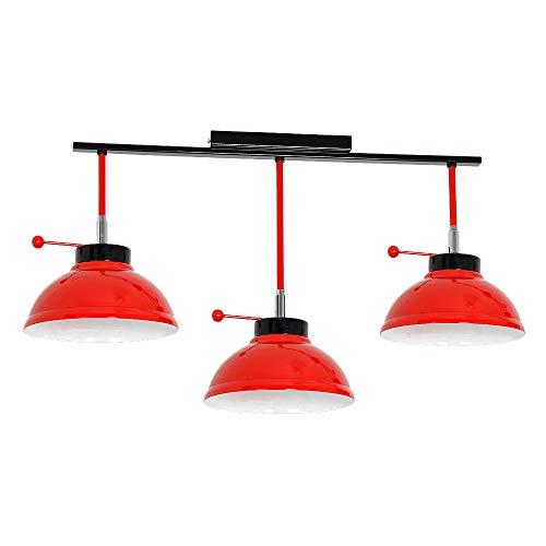 Schicke Deckenleuchte in Rot Weiß 3x E27 bis zu 60 Watt 230V aus Metall schwenkbar Küche Esszimmer Lampen Leuchte innen Beleuchtung