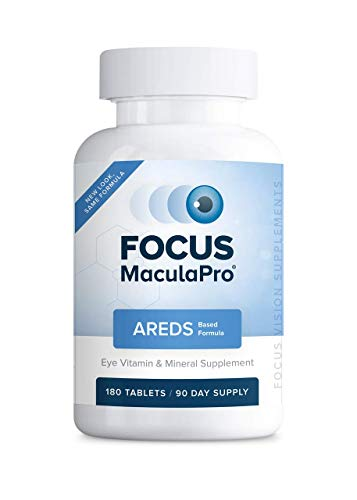 Focus MaculaPro - AREDS Based Eye Vitamin-Mineral Supplement (180 ct. 90 Day Supply) -AREDS Based Vitamins for Non-Smokers - AREDS Based Supplements