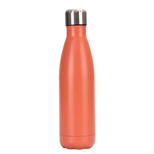 Lankfun Botella de Agua portátil para Deportes de Ocio al Aire Libre de Acero Inoxidable 304, Adecuada para Ciclismo, Senderismo y Fitness-C_350ml