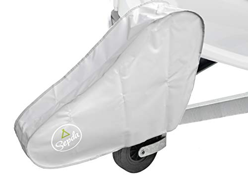 SEPDA Premium Deichselhaube aus hochwertiger LKW Plane mit Zwei Klickverschlüssen für Wohnwagen und Anhänger