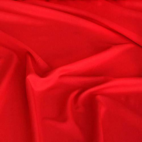 TOLKO Modestoff | Dekostoff universal Stoff zum Nähen Dekorieren | Blickdicht, knitterarm | 150cm breit Meterware Bekleidungsstoffe Dekostoffe Vorhangstoffe Baumwollstoffe Basteln Patchwork (Rot)