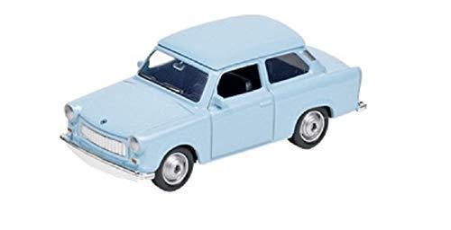 Trabant Modellauto mit Rückzugmotor Limousine | Modell Trabi |Trabbi - 601| DDR-Kult | verschiedene Farben Freiwählbar | Geschenk Idee Geburtstag , Ostern , Weihnachten , Vatertag (Trabi Hellblau)