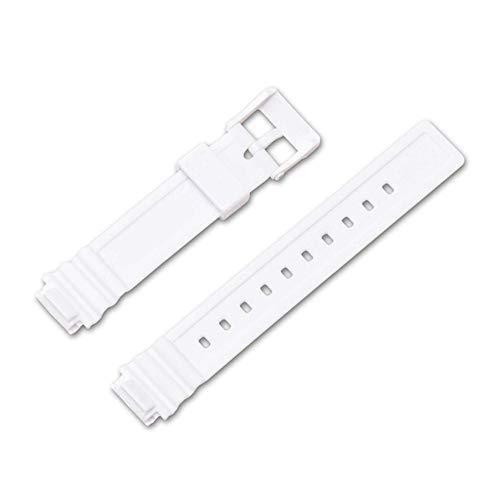 Shieranlee 14mm Diving Sport Correa Compatible con Casio LRW-200H Rubber Replacement Watch Smart Bracelet Strap Accessories for Women