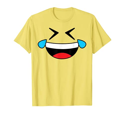 Halloween Emojis Costume Crying Laughing Emoticon Tears T-Shirt