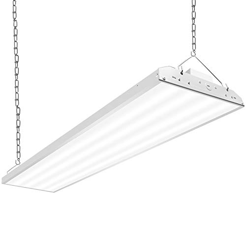 CINOTON 4FT Linear LED High Bay Light, LED Shop Light Fixture 321W 41730lm 1-10V Dimmable 5000K [[800-1000W Fluorescent Equiv.]Motion Sensor Optional, Indoor Commercial Warehouse Area Light