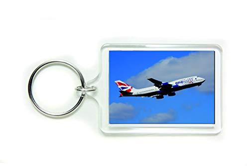 Passenger Jet Vliegtuig Vliegtuig foto door Delta Fotografie Acryl Sleutelhanger