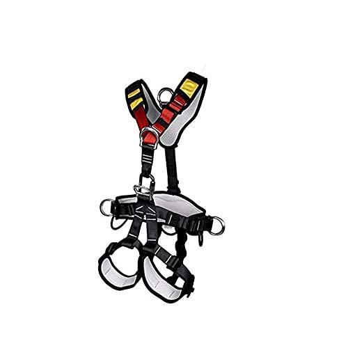 ZHIRCEKE Mehrzweck Klettergurt, Absturzsicherung Auffanggurt für Outdoor, Sitzgurt zum Klettern mit verstellbaren für Bergsteigen BaumkletternSchneller Abstieg, Tragen 180 kg