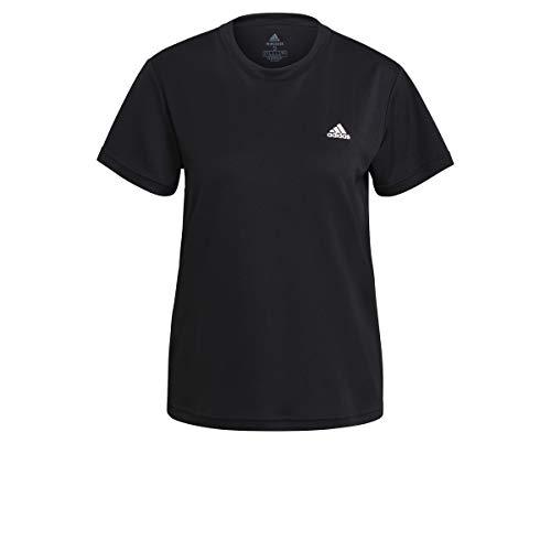 adidas GL3723 W SL T T-Shirt Donna Black/White S