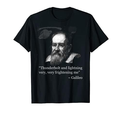 Thunderbolt lightning Galileo Meme Science Astronomy T Shirt T-Shirt
