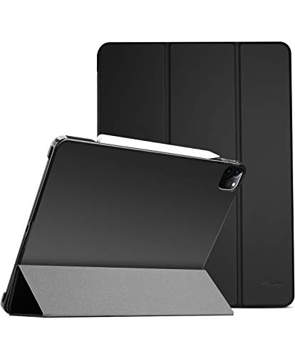 """ProCase iPad Pro 12.9 Case 4th Generation 2020 & 2018, [Support Apple Pencil 2 Charging] Slim Stand Hard Back Shell Smart Cover for iPad Pro 12.9"""" 4th Gen 2020 / iPad Pro 12.9"""" 3rd Gen 2018 –Black"""