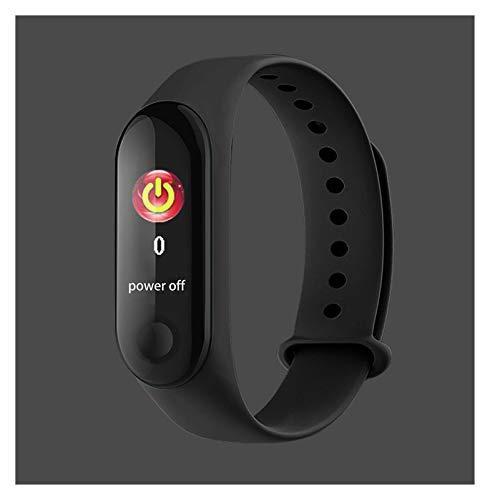 GYY Pulsera Inteligente Cuerpo Medición De La Temperatura Smartband Pedómetro Multi-Sport Fitness Bracelet Band para Xiaomi Huawei iPhone (Color : Black)