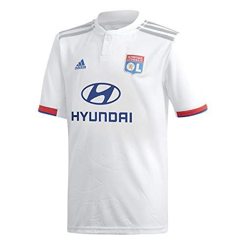 adidas Olympique Lyon Primera Equipación 2019-2020 Niño, Camiseta, White-Collegiate Red-Collegiate Royal, Talla...