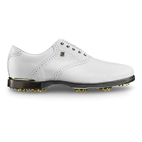 FootJoy Men's ICON Black Golf Shoes White Lizard Print, 9.5 W US