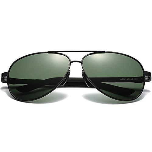 ZHHk Gafas De Sol Polarizadas Y Versátiles De Moda for PC, con Lentes Negras/Verdes, Montura Negra, Hombres Y Mujeres con Las Mismas Gafas De Sol De Conducción Gafas de Sol (Color : Green)