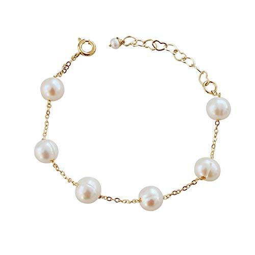 De enige goede kwaliteit Sieraden natuurlijke zoetwaterparel mode armband 14K verguld goud nobele dames armband