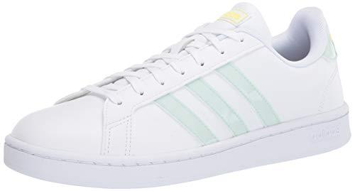 adidas Grand Court, Scarpe da Ginnastica Donna, Ftwr Bianco Dash Verde Shock Giallo, 36 EU
