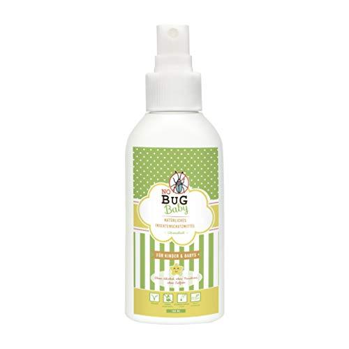 Repellente zanzare NoBug Baby | 100% naturale | 100 ml bio oil spray con aloe vera | Alternativo a bracciale antizanzare e anti insetti NO DEET