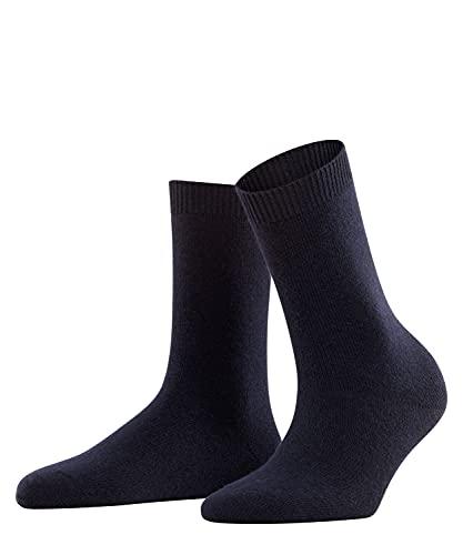 FALKE Cosy Wool, Calcetines Mujer, Lana Merino Cachemira, Azul (Dark Navy 6379), 35-38 (1 Par)
