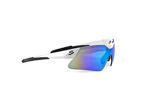 Spiuk Mamba - Gafas de Ciclismo Unisex, Color Blanco/Negro