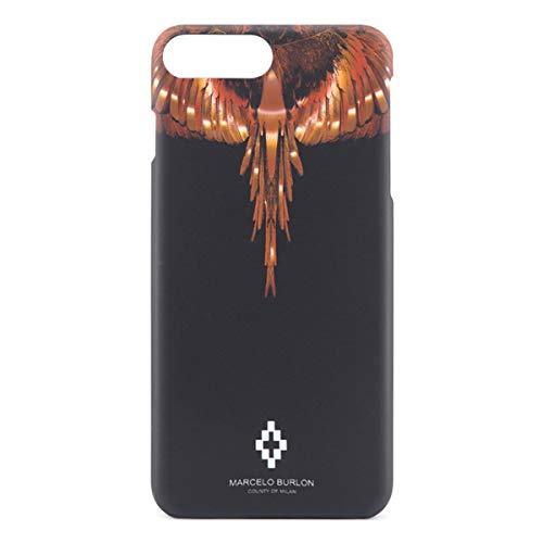 MARCELO BURLON County of Milan Cover/Custodia Wings Gold Compatibile con iPhone 8 Plus, 7 Plus, 6s Plus, 6 Plus - Rigida - Soft Touch e Antiurto - Protezione Frontale rialzata MBU_M8P-WINGSG_OS