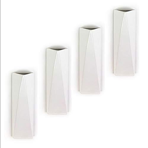 Humidificador de 4 piezas de cerámica GEO largo plano para fijación al radiador, calefacción, difusor de agua, jarrón de pared a1677