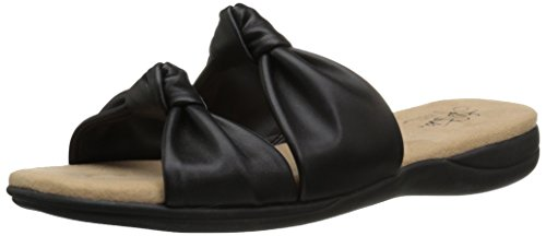 LifeStride Women's Eden Sandal, Black, 5.5 M US