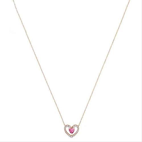 Collar Moda Personalidad Creativa Cien Amor Collar De Modelado Mujer Amor Romántico Collar De Modelado De Cisne Moda Micro-Set Corazón Collar Accesorios