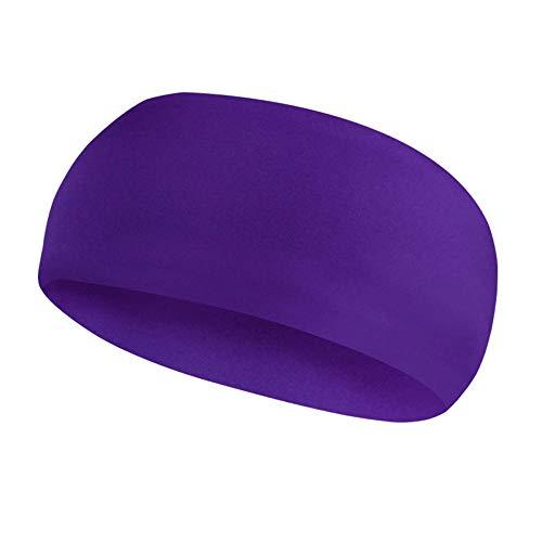 Amuuuz Fascia Sportiva Capelli Headbands Fascia per Il Sudore Yoga Fitness Head perUomo E Donna La Fascia per Il Sudore SportivoTraspirante Evapora Rapidamente Il Viola