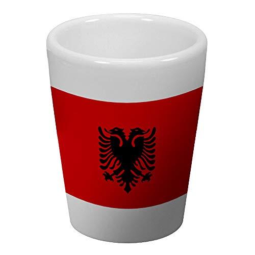 Express It Best Shot Glass - Flag of Albania (Albanian)