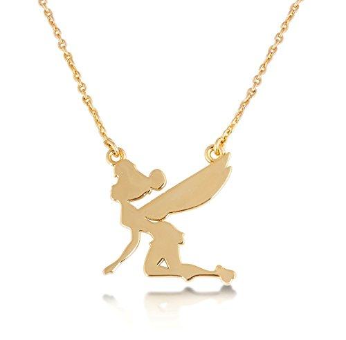 Disney Couture Kingdom Collar clásico chapado en oro con Campanilla voladora
