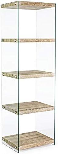 ARrotinITALY Bücherregal mit Regalb n Hüfte aus geh etem Glas. Regale in Naturholzoptik