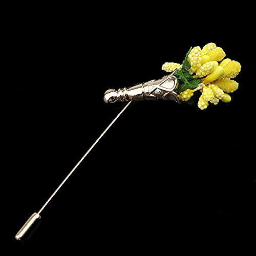 JJZXT Flor Hoja de la joyería del árbol Vintage Lindo para la Fiesta de Bodas Mejor Hombre Hombre de Honor Joyería-Accesorios de joyería Corsage (Color : D)