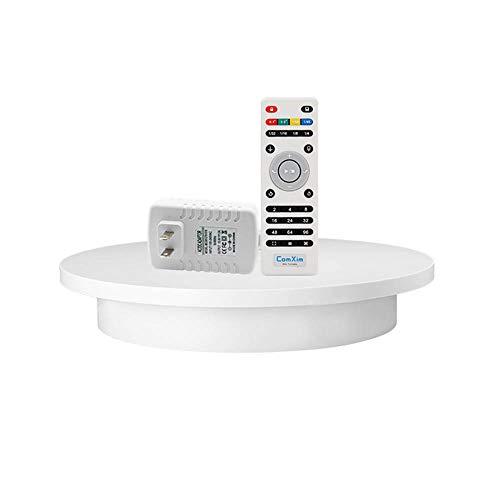 Outech Schwarz/Weiß 32cm-Drehteller Elektrisch, Um 360 Grad Drehfuß Für Fotografie Und Produktanzeige, Automatischer Fernbedienungswinkel, Geschwindigkeit, Richtung, Verschiedene Rotationsmodi