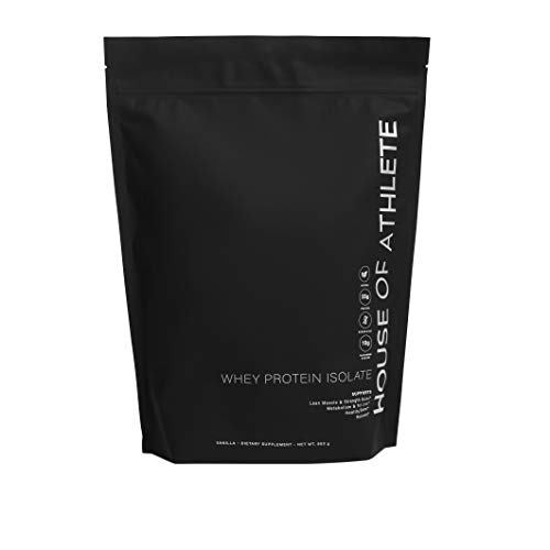 House of Athlete Whey Protein Isolate w/Probiotics & Digestive Enzymes - Zero Fat, Low Carb, Zero Sugar, Vanilla - 30 Servings