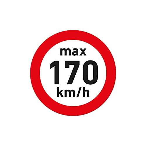 1000 pegatinas de velocidad para neumáticos de invierno, 170 km/h, color blanco