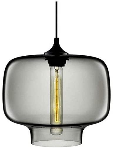 Lámparas De Araña Moderna casa de campo industrial/de escuela/colgante rústico luz de color de vidrio de color de vidrio de altura de la sombra ajustable de la decoración de la sala de estar de la sa