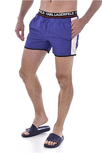 Karl Lagerfeld BEACHWEAR Pantalones cortos deportivos., azul marino, M