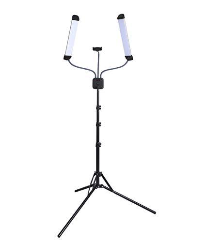 JFSKD Led-dubbelarm fotografie licht 40W zelfontspanner vullen licht schoonheid licht 3000K-6000 k kleurtemperatuur voor live overdracht schoonheid anker fotografie video-opname gebruikt