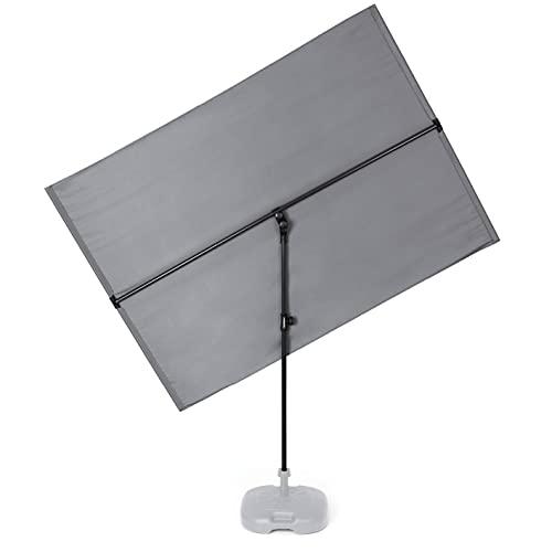 Hoberg rechteckiger Sonnenschirm | kippbar, 360°-drehbar | Balkonblende, Sonnen- und Sichtschutz für Terrasse | UV-Schutzfaktor 50 [ca. 130 x 180 cm]