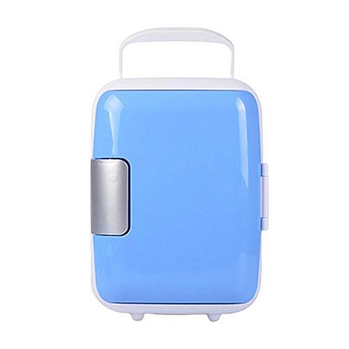 JSJJRFV Refrigerador de Coche Mini Coche Refrigerador 4L Food Bebidas Doble Use Cooler Warmer Box Fridge Portable 12V Coche Refrigerador para Office Yacht Truck RV (Color Name : Blue)