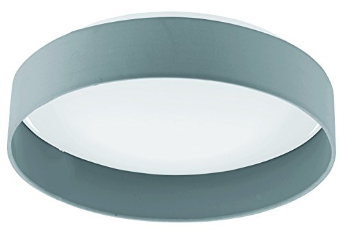 Black Palomaro Single Light LED 16in. Wide Flush Mount Ceiling Fixture with White Fabric Shade