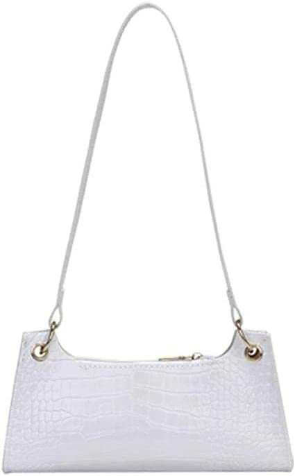 Women Underarm Bag Fashion Alligator Pattern Female Handbag Solid Color PU Leather Casual Underarm Purse Shoulder Bags