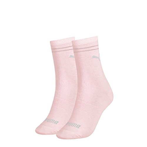 PUMA Damen New Casual Socken Classic 6er Pack, Größe:35-38, Farbe:Pink (276)