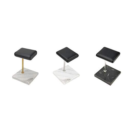 chiwanji 3pcs Marmor Ständer Uhrenständer Uhrenhalter Uhrenaufsteller Vitrine Uhrendislay mit PU-Leder Oberfläche für Armbanduhr - Stil 2 + 3 + 4