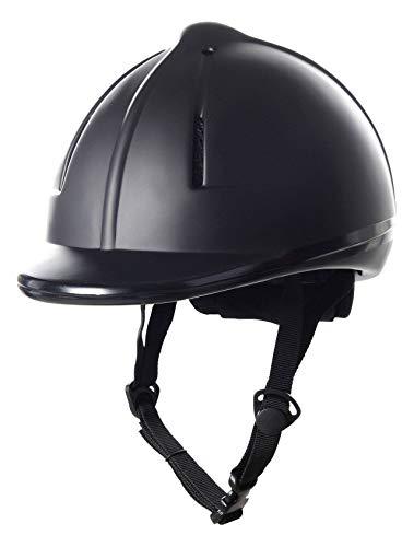 HKM SPORTS EQUIPMENT - Reithelme in schwarz, Größe 48-52cm