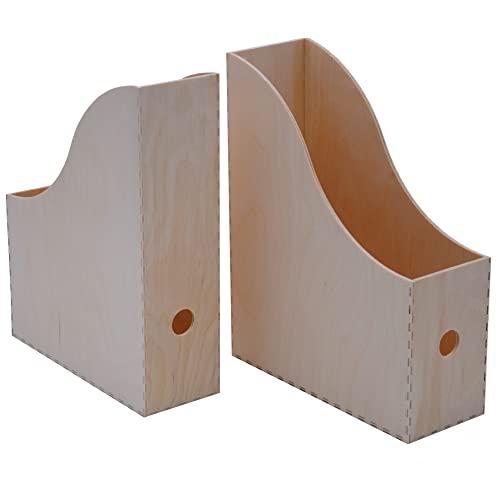 Ikea Zeitschriftensammler Knuff Holz-Aufbewahrungsbox im 2-er Set Revistero (Madera, 2 Unidades), Plata
