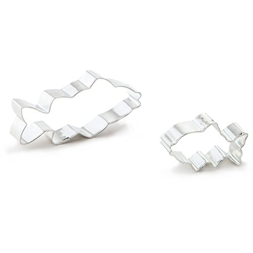 Bakerpan Stainless Steel Cookie Cutter Fish Set of 2