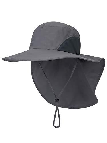 Unisex UV Protección Gorra de Safari con 33cm Largo Cuello Guardia 12cm...