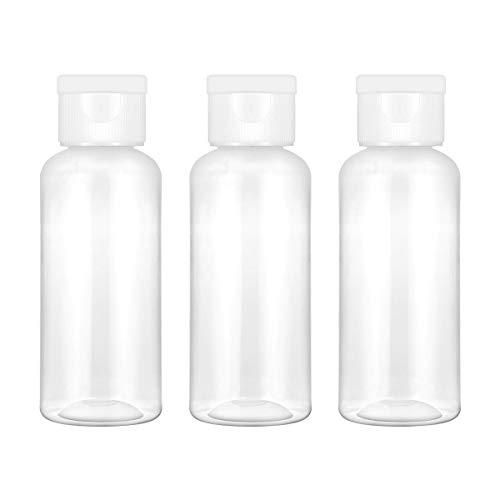 Frcolor 6 leere Plastik-Fläschchen, 50ml, Wasserflasche, Flasche für Flüssigkeiten