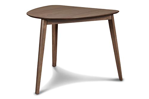 New Classic Furniture Mid-Century Modern Oscar Corner Table, Walnut
